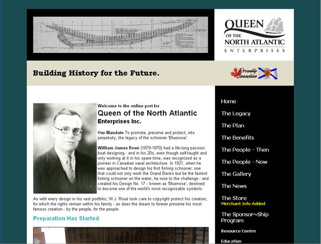 Bluenose website (although you can't tell)