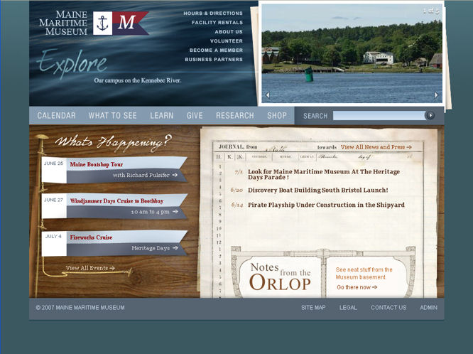 Maine Maritime Museum home page