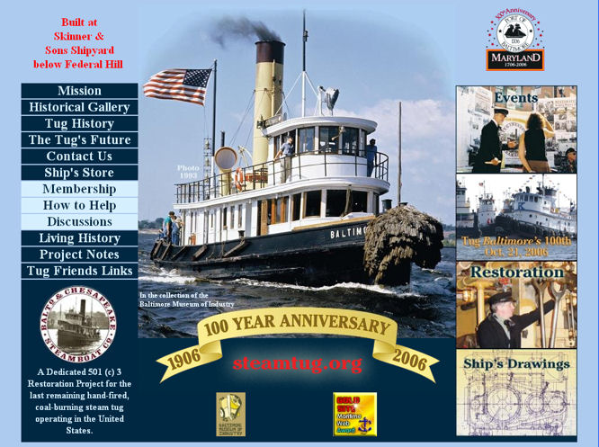Steamboat Tug website