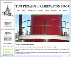 New version of the Tug Pegasus Preservation Project website